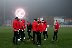 Bristol City players on the pitch prior to kick off - Mandatory by-line: Matt McNulty/JMP - 17/01/2017 - FOOTBALL - Highbury Stadium - Fleetwood,  - Fleetwood Town v Bristol City - Emirates FA Cup Third Round Replay