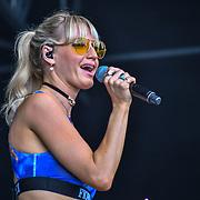 Kerri Watt from Scotland performs at Kew the Music 2019 on 14 July 2019, London, UK.