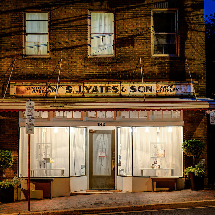 S.J. Yates and Son building on Main Street in Historic Ellicott City, Maryland.