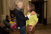 SABINA DUMONT;; SARAH LUCAS;;   Sarah Lucas- Scream Daddio party hosted by Sadie Coles HQ and Gladstone Gallery at Palazzo Zeno. Venice. 6 May 2015.