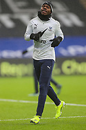 Crystal Palace defender Tyrick Mitchell (27) warming up prior to the Premier League match between Crystal Palace and Wolverhampton Wanderers at Selhurst Park, London, England on 30 January 2021.