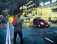 NYC in Colors  Horn / Andersen<br /> Taxi <br /> 100x130 cm    pris kr. 12.500,- <br /> Dato: 23.11.13<br /> Foto:  Lars Horn / Baghuset