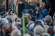 Speeches in Parliament Square incl Sadiq Khan - The People's Vote March For The Future demanding a Vote on any Brexit deal. The protest assembled on Park Lane and then marched to Parliament Square for speeches.