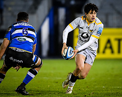 Jacob Umaga of Wasps carries - Mandatory by-line: Andy Watts/JMP - 08/01/2021 - RUGBY - Recreation Ground - Bath, England - Bath Rugby v Wasps - Gallagher Premiership Rugby