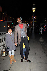 OZWALD BOATENG with his children AMELIA & OSCAR attend a Winter Party given by Tiffany & Co. Europe to launch the 10th season of Somerset House's Ice Skating Rink at Somerset House, The  Strand, London on 16th November 2009.