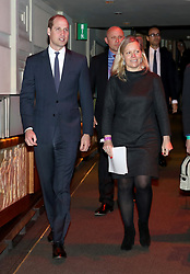 The Duke of Cambridge with Charlotte Moore, BBC Director of Content as he attends a reception and screening at Old Broadcasting House in London of the BBC's documentary 'Mind over Marathon'.