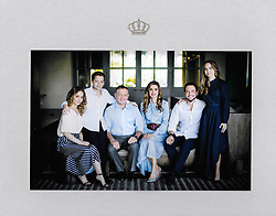 King Abdullah II of Jordan and Queen Rania and their children, Crown Prince Al Hussein (2nd from R), Princess Iman (1st from L), Princess Salma (1st from R) and Prince Hashem (2nd from L) seen in the photo sent as end of Year Greetings Family Photo, in Amman, Jordan, on December 19, 2018. Photo by Balkis Press/ABACAPRESS.COM
