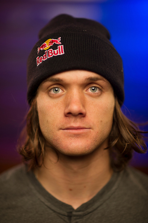 Louie Vito poses for a portrait at the RedBull Performance Camp in Aspen Colorado, United States on April 14th, 2013