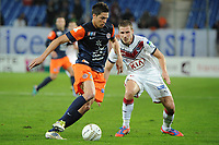 FOOTBALL - FRENCH LEAGUE CUP 2012/2013 - 1/8 FINAL - MONTPELLIER HSC v GIRONDINS BORDEAUX - 31/10/2012 - PHOTO SYLVAIN THOMAS / DPPI - JONAS MARTIN (MHSC) / GREGORY SERTIC (BDX)