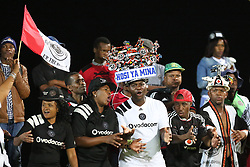 17032018 (Durban) soccer loving Golden Arrows and Orlando Pirates fans sing and dance at the stadium when Orlando Pirates walloped Golden Arrows 2-1 at the ABSA premier league encounter at Princess Magogo Staduim, in Kwa-Mashu, Durban. Pirates has advance their league position to number 2 with 41 points after Sundowns with 42 points lead.<br /> Picture: Motshwari Mofokeng/African New Agency/ANA