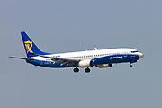 EI-DCL Ryanair Boeing 737-800 Next Gen, landing at Malpensa (MXP / LIMC), Milan, Italy