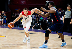 Johannes Voigtmann of Germany vs Kevin Seraphin of France during basketball match between National Teams of Germany and France at Day 10 in Round of 16 of the FIBA EuroBasket 2017 at Sinan Erdem Dome in Istanbul, Turkey on September 9, 2017. Photo by Vid Ponikvar / Sportida