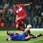 Turkey's Hakan BALTA (C) during their UEFA EURO 2012 Play-off for Final Tournament First leg soccer match Turkey betwen Croatia at TT Arena in Istanbul Nüovember11, 2011. Photo by TURKPIX