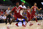 DALLAS, TX - NOVEMBER 25: Bobby Portis #10 of the Arkansas Razorbacks boxes out against the SMU Mustangs on November 25, 2014 at Moody Coliseum in Dallas, Texas.  (Photo by Cooper Neill/Getty Images) *** Local Caption *** Bobby Portis