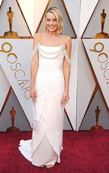 March 5, 2018 - Los Angeles, California, USA - 3/4/18.Margot Robbie at the 90th Annual Academy Awards (Oscars) presented by the Academy of Motion Picture Arts and Sciences..(Hollywood, CA, USA) (Credit Image: © Starmax/Newscom via ZUMA Press)