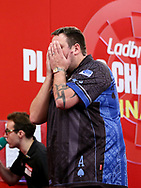 Adrian Lewis during the 2018 Players Championship Finals at Butlins Minehead, Minehead, United Kingdom on 24 November 2018.