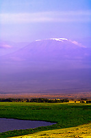 Mount Kilimanjaro viewed from Amboseli National Park, Kenya