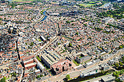 Nederland, Noord-Holland, Haarlem, 01-08-2016; centrum Haarlem met onder andere ZIjlvest (voorgrond)m Raaks, Gedempte Oude Gracht.<br /> Overview city centre Haarlem.<br /> luchtfoto (toeslag op standard tarieven);<br /> aerial photo (additional fee required);<br /> copyright foto/photo Siebe Swart