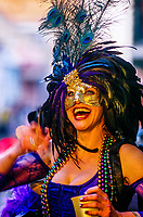 Mardi Gras, Bourbon Street, French Quarter, New Orleans, Louisiana USA