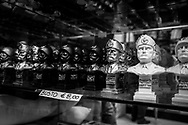 Mussolini busts for sale in a local souvenir shop. About 2000 fascists gathered in Predappio, Italy to commemorate the annivrsary of the 'Marcia su Roma' A march held on October 28th 1922 and marked the start of the Italian fascist era .Federico Scoppa