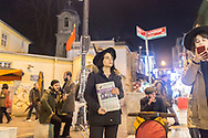 Eylem Gültekçe (centre) with other members of the Kampüs Cadıları (Campus witches) hold a demonstration in the Kadıköy district of Istanbul, Turkey, for the upcoming international women's day on March 8th 2018. They distribute their newspaper and leaflets calling for women to join them in protest on March the 8th.