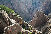 Island Peaks from the North Rim, Black Canyon of the Gunnison National Park, Colorado.