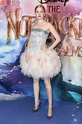 Ellie Bamber attending the European Premiere of The Nutcracker and the Four Realms held at the Vue, Westfield London. Picture date: Thursday November 1st 2018. Photo credit should read: Matt Crossick/ EMPICS Entertainment.