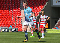 Blackpool's Sean Longstaff celebrates scoring his sides first goal <br /> <br /> Photographer Alex Dodd/CameraSport<br /> <br /> The EFL Sky Bet League One - Doncaster Rovers v Blackpool - Saturday 19th August 2017 - Keepmoat Stadium - Doncaster<br /> <br /> World Copyright © 2017 CameraSport. All rights reserved. 43 Linden Ave. Countesthorpe. Leicester. England. LE8 5PG - Tel: +44 (0) 116 277 4147 - admin@camerasport.com - www.camerasport.com