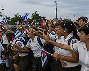 Hundreds of thousands of Cuban's parade through Havana's Revolution Square on May Day to celebrate International Worker's Day and in support of the revolution.