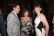 PERCY GIBSON; DAME JOAN COLLINS; GEORGIA COLERIDGE, V & A Summer party. South Kensington. London. 22 June 2016