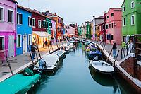 Italy, Burano. Burano is an island in the Venetian Lagoon.