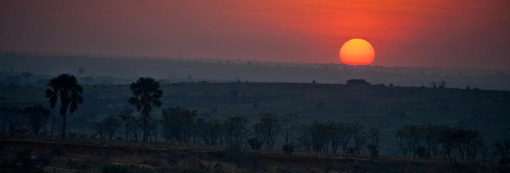 Savannah sunrize.  Murchison Falls, Uganda.