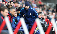 Mauricio Pochettino, the manager of Tottenham Hotspur looks on. The Emirates FA Cup, quarter-final match, Swansea city v Tottenham Hotspur at the Liberty Stadium in Swansea, South Wales on Saturday 17th March 2018.<br /> pic by  Andrew Orchard, Andrew Orchard sports photography.