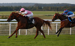 Wannabe Friends ridden by Finley Marsh win The Thames Materials Ltd Handicap Stakes Race run at Goodwood Racecourse, Chicester.