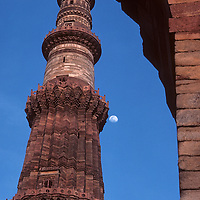 Qutab Minar, in Delhi, India, is the world' tallest freestanding brick and rock minaret. It stands 72 meters and was built by India's first Islamic rulers between 1193 & 1386. It and contemporaneous surrounding structures are all part of the Qutab complex, a UNESCO world heritage site.