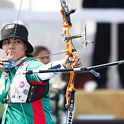 Alejandra VALENCIA (MEX) competes in Archery World Cup Final in Istanbul, Turkey, Sunday, September 25, 2011. Photo by TURKPIX
