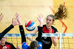 Louise Bijlsma of VCN in action during the first league match between Djopzz Regio Zwolle Volleybal - Laudame Financials VCN on February 27, 2021 in Zwolle.