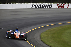 August 19, 2018 - Long Pond, Pennsylvania, United Stated - SCOTT DIXON (9) of New Zealand take to the track for the ABC Supply 500 at Pocono Raceway in Long Pond, Pennsylvania. (Credit Image: © Chris Owens Asp Inc/ASP via ZUMA Wire)