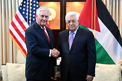 May 3, 2017 - Washington, DC, United States of America - U.S. Secretary of State Rex Tillerson greets Palestinian Authority President Mahmoud Abbas before bilateral talks May 3, 2017 in Washington, D.C. (Credit Image: © Glen Johnson/Planet Pix via ZUMA Wire)