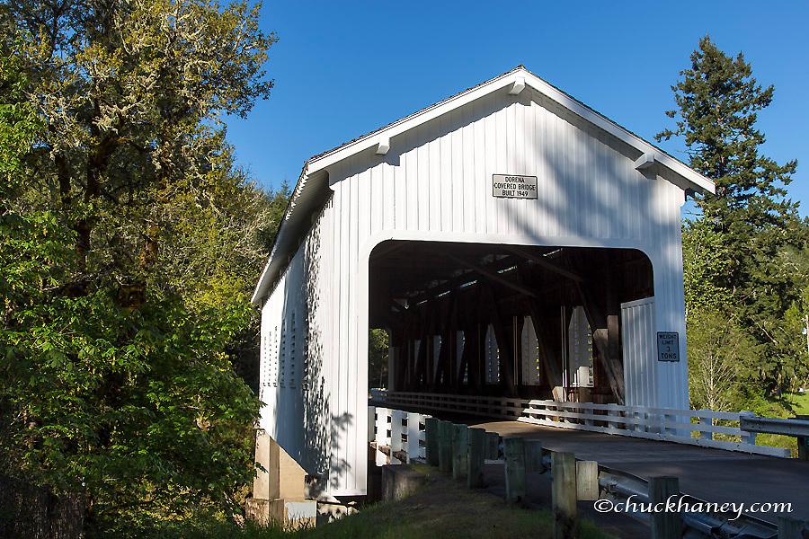 The Dorena Covered Bridge in Lane County, Oregon, USA