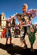 PERU, CUZCO, FESTIVALS Corpus Christi; dancing the 'Cholo'