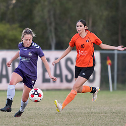 BRISBANE, AUSTRALIA - MAY 20:  during the round 8 Mt. Franklin Womens Brisbane Premier League match between Eastern Suburbs and The Gap on May 20, 2017 in Brisbane, Australia. (Photo by Patrick Leigh Perspectives)
