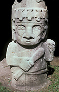 Stone Statue, Warrior Guard, associated with burial site 300-800AD, San Augstin Archaeological Park, South West Columbia