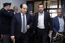 Italy, Rome - July 5, 2018. Italian Minister of Interior Affairs Matteo Salvini, meets Ahmed Maitig, Libyan Deputy Premier (Credit Image: © Zucchi/Insidefoto/Ropi via ZUMA Press)