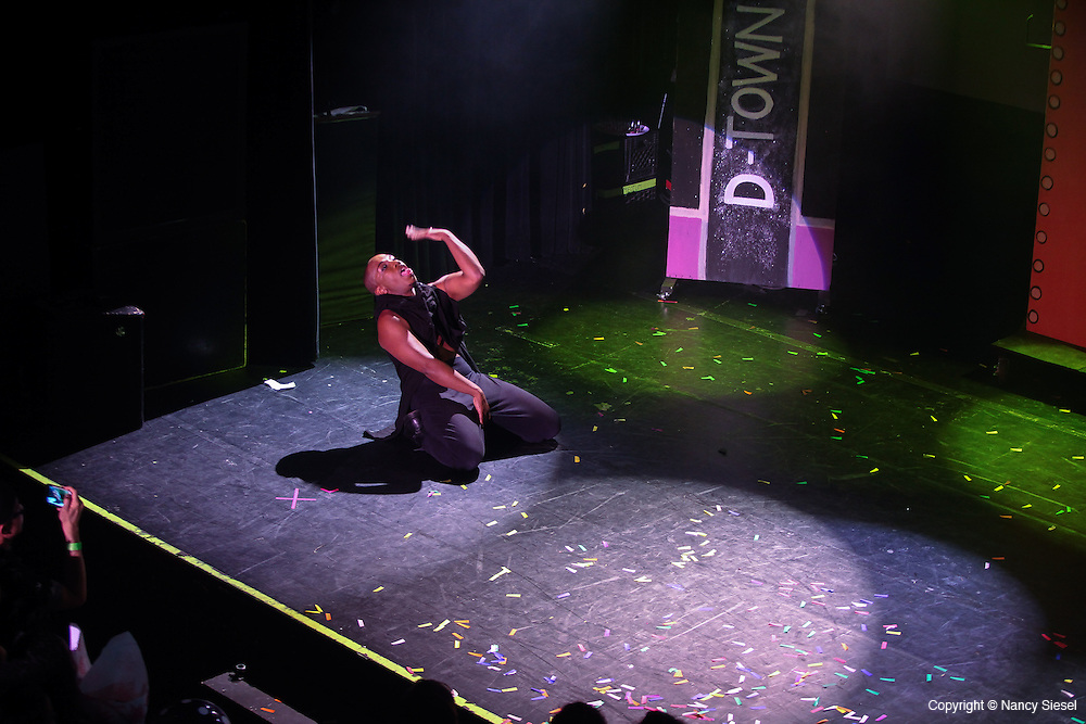 Stylists from the Dramatics Hair Salon perform at Irving Plaza in Manhattan.