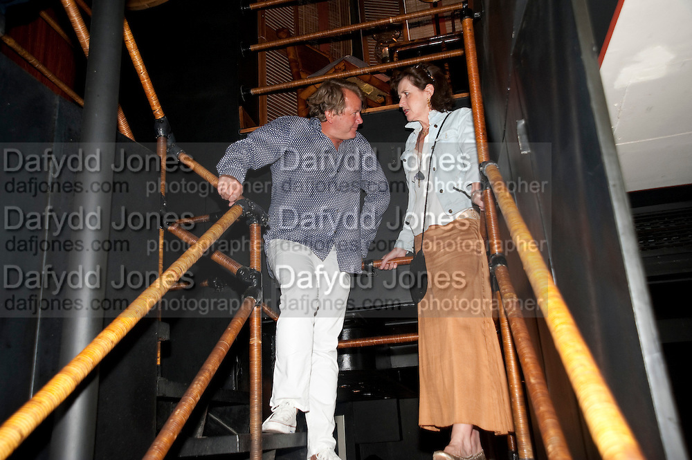 JULIAN OZANNE; CHARLOTTE FRASER, Book party for Janine di Giovanni's Ghosts by Daylight. Blake's Hotel. South Kensington. London. 12 July 2011. <br /> <br />  , -DO NOT ARCHIVE-© Copyright Photograph by Dafydd Jones. 248 Clapham Rd. London SW9 0PZ. Tel 0207 820 0771. www.dafjones.com.