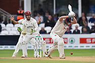 Nick Browne of Essex defends during the Specsavers County Champ Div 1 match between Somerset County Cricket Club and Essex County Cricket Club at the Cooper Associates County Ground, Taunton, United Kingdom on 26 September 2019.