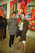 MAX PARSONS AND PALOMA GORMLEYY, Franz Ackermann , Home, home again private view. White Cube, Hoxton sq. London. 20 April 2006. ONE TIME USE ONLY - DO NOT ARCHIVE  © Copyright Photograph by Dafydd Jones 66 Stockwell Park Rd. London SW9 0DA Tel 020 7733 0108 www.dafjones.com