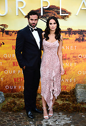 James Dunmore and Lucy Watson attending the global premiere of Netflix's Our Planet, held at the Natural History Museum, London.