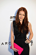 HONG KONG - MARCH 14:  A visibly intoxicated Chai-Yan Leung, daughter of Hong Kong Chief Executive C.Y. Leung, arrives on the red carpet during the 2015 amfAR Hong Kong gala at Shaw Studios on March 14, 2015 in Hong Kong. Photo : Lucas Schifres/Abaca  (Photo by Lucas Schifres/Lucas Schifres)